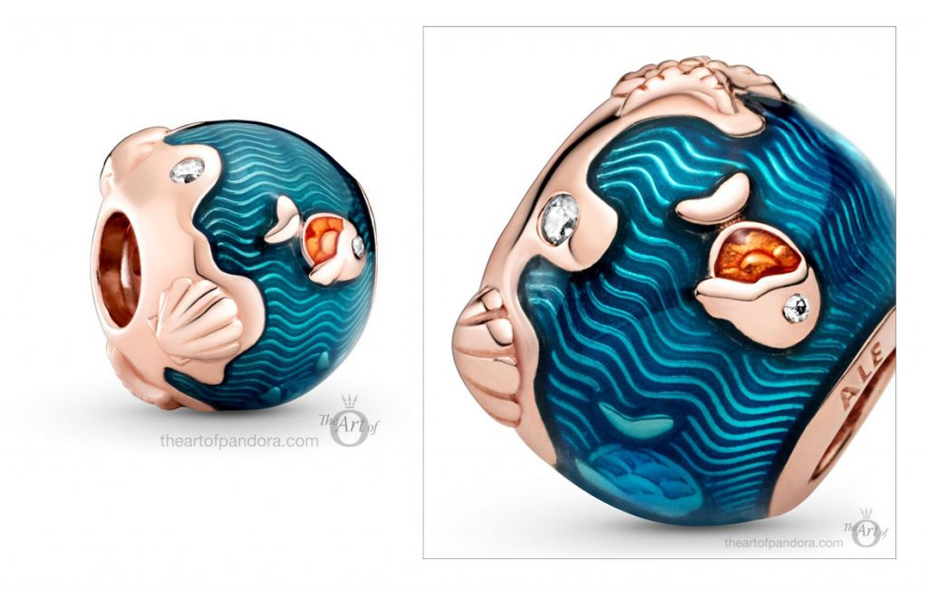 789004C01 Pandora Shimmering Ocean Waves Fish Charm summer 2020 collection
