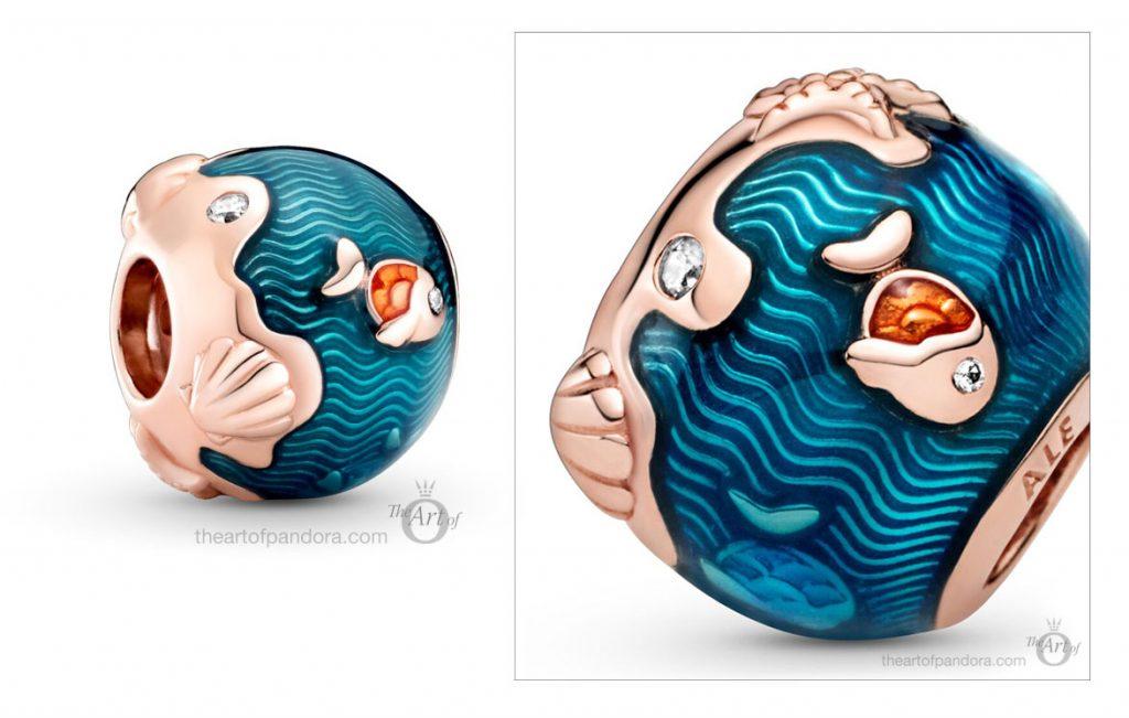 789004C01 Коллекция Pandora Shimmering Ocean Waves Fish Charm лето 2020