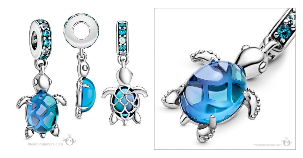 Pandora Murano Glass Sea Turtle Charm (798939C01) summer 2020 collection