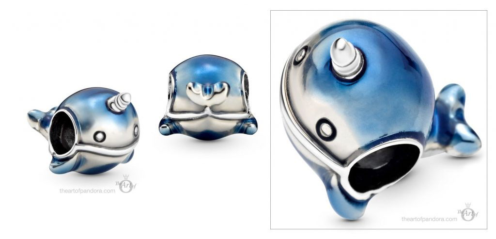 798965C01 Pandora Shimmering Narwhale Charm summer 2020 collection