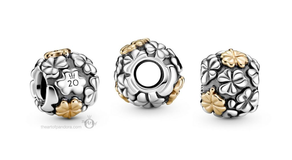 799005C00 pandora 20 20th anniversary four 4 leaf clover two tone limited edition charm B82005EN