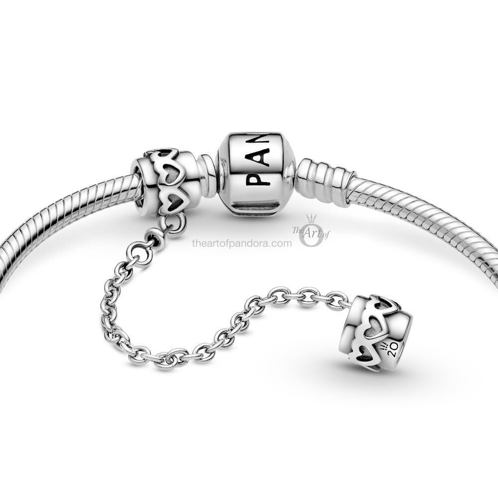 Limited Edition Pandora 20th Anniversary Hearts Safety Chain 799007C00-05 799007C00