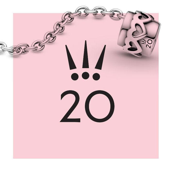 Pandora 20th Anniversary Heart Safety Chain - The Art of Pandora ...