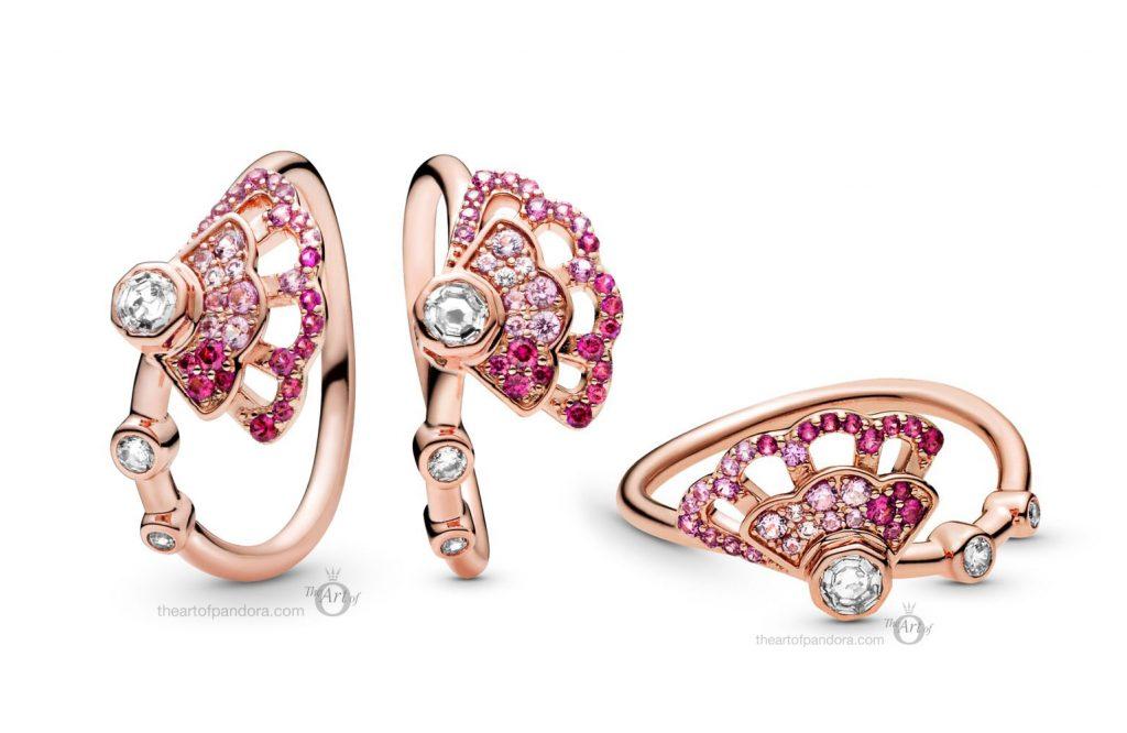 188191C01 Pandora Rose Pink Fan Ring pre autumn 2020