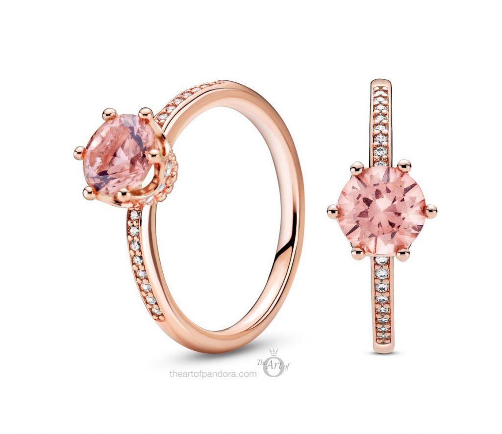 Pandora Rose Pink Sparkling Crown Solitaire Ring  (188289C01) autumn 2020