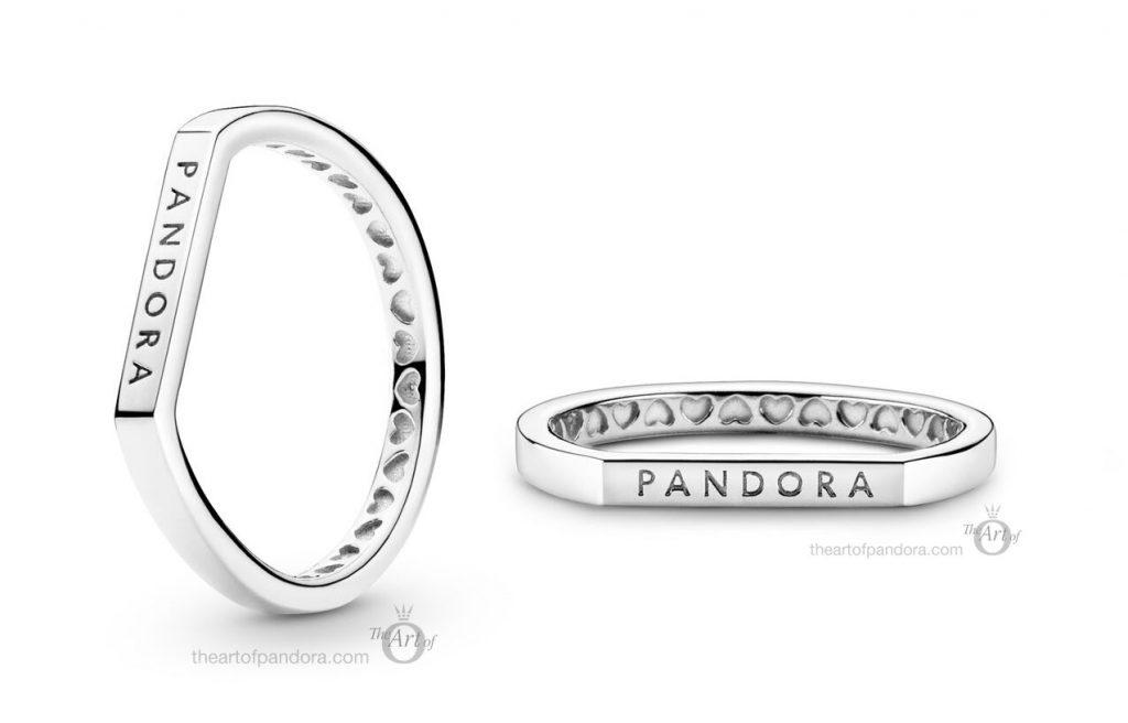 199048C00 Pandora Logo Bar Stacking Ring Pre Autumn 2020 new collection