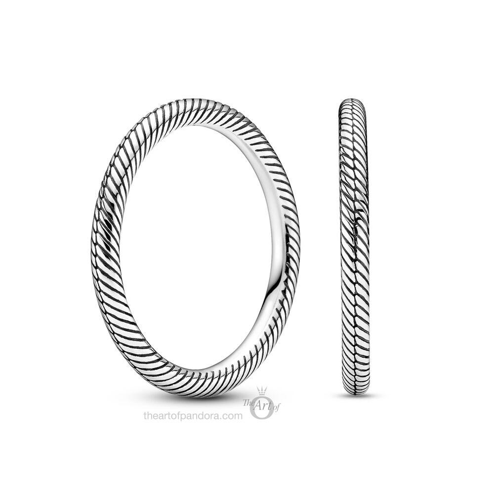 199085C00 Pandora Snake Chain Pattern Ring autumn 2020