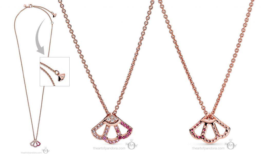 Pandora Rose Pink Fan Collier Necklace  (388146C01)  pre autumn 2020