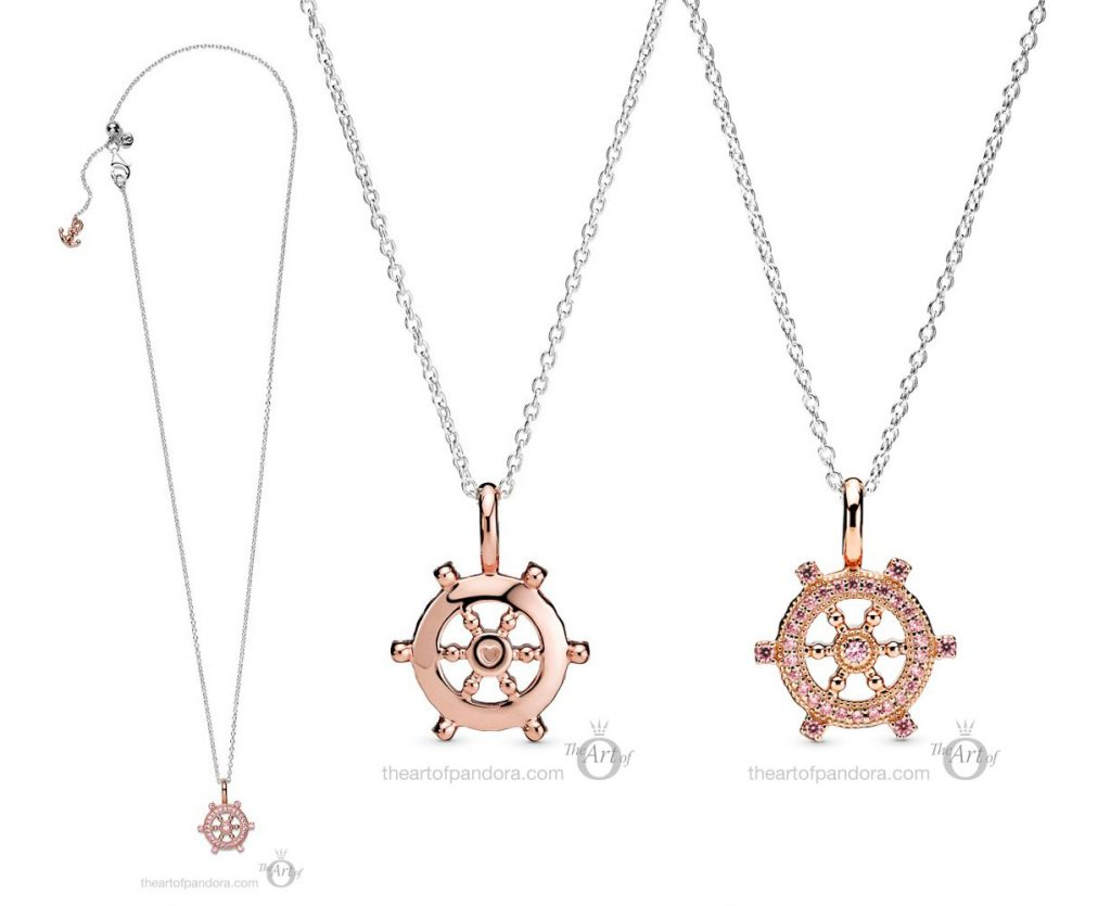 Pandora Rose Ships Helm Necklace  (389021C01) autumn 2020