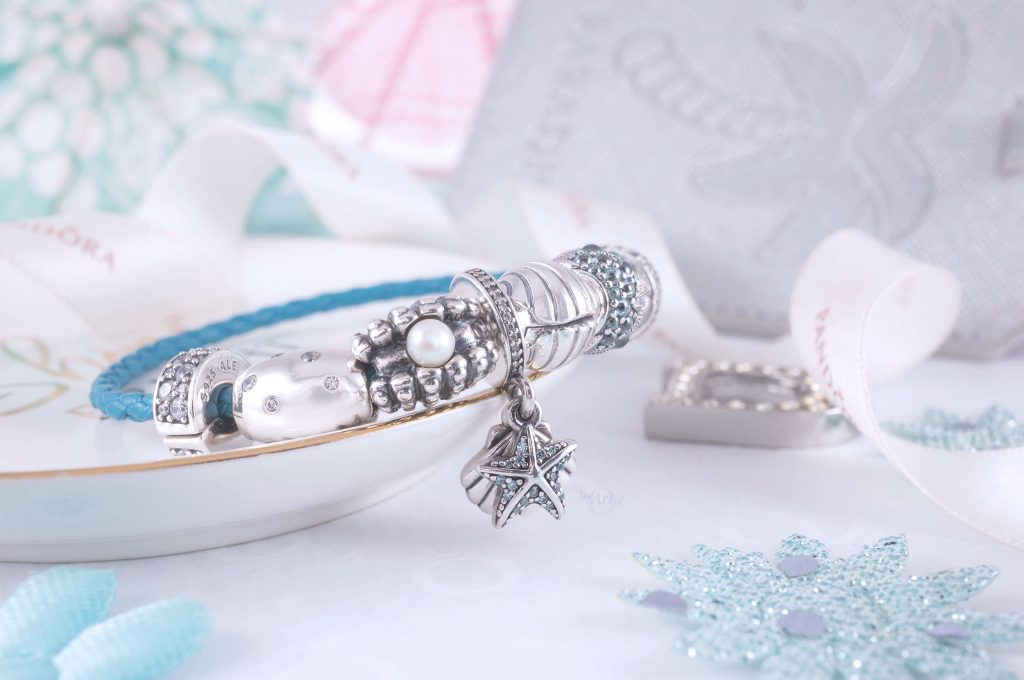 Pandora Moments Seashell Clasp Turquoise Braided Leather Bracelet 598951C01-S 3 for 2 gwp sale gift pre autumn 2020 new collection pandora summer limited edition ocean