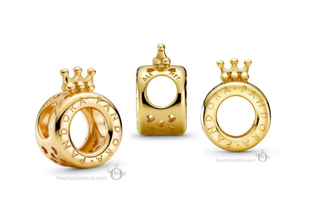 Pandora Signature Shine Logo & Crown O Charm (769036C00) Pre Autumn 2020 new collection