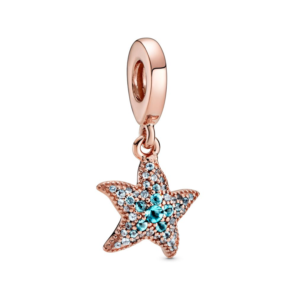 Pandora Rose Sparkling Starfish Dangle Charm 788942C01 Summer 2020 new collection review 3 for 2 gwp sale Harry Potter Disney promotion pre-autumn autumn Pandora Moments Seashell Clasp Turquoise Braided Leather Bracelet 598951C01-S