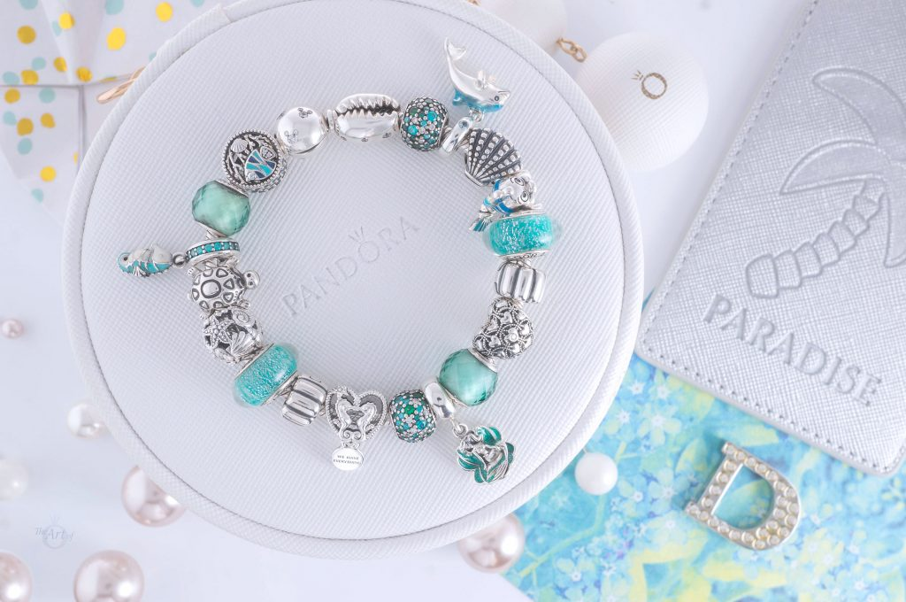 Pandora Murano Glass Sea Turtle Dangle Charm 798939C01 Summer 2020 limited edition new collection Harry Potter disney review theartofpandora official uk estore 798949C00 Pandora Openwork Seahorses Heart Charm