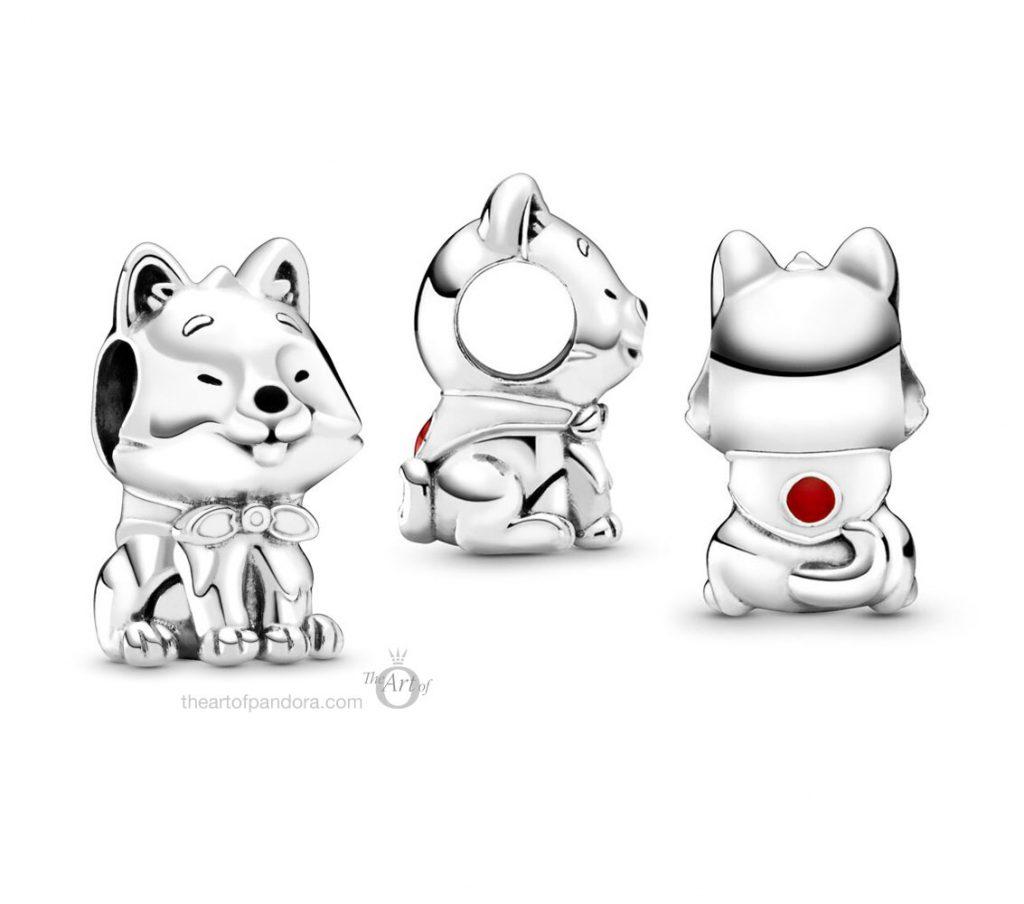 Pandora Japanese Akita Inu Dog Charm (799030C01) Pandora Pre-Autumn 2020 Collection
