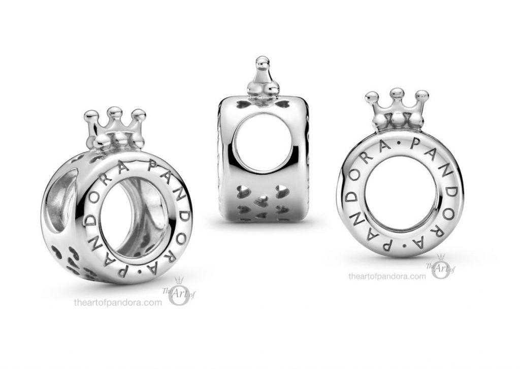 Pandora Signature Logo & Crown O Charm (799036C00)  Pre Autumn 2020 new collection
