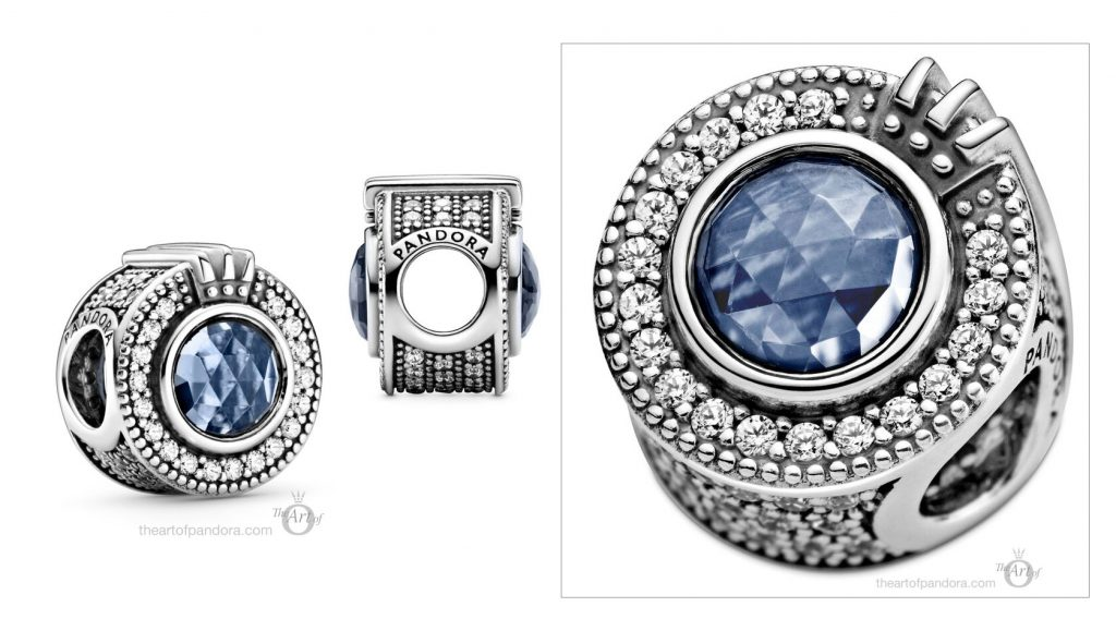 Pandora Signature Sparkling Blue Crown O Charm (799058C01) Pre Autumn 2020 new collection