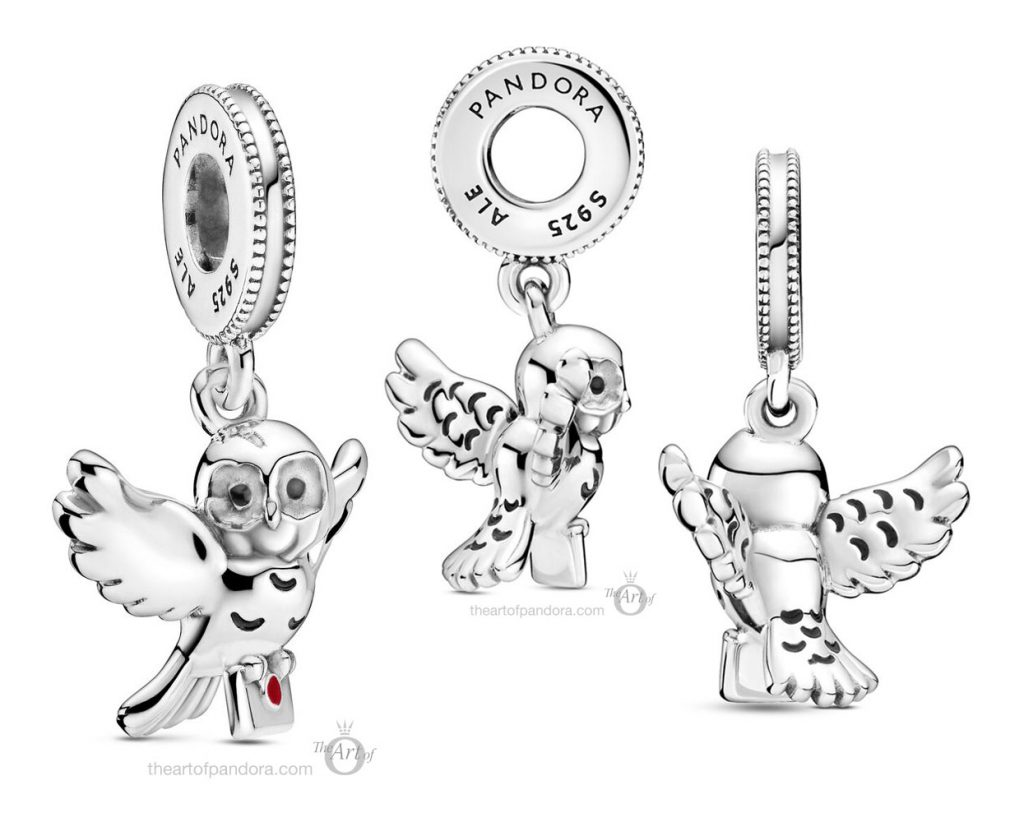 Harry Potter x Pandora Hedwig Owl Dangle Charm (799123C01) Summer autumn new collection 2020