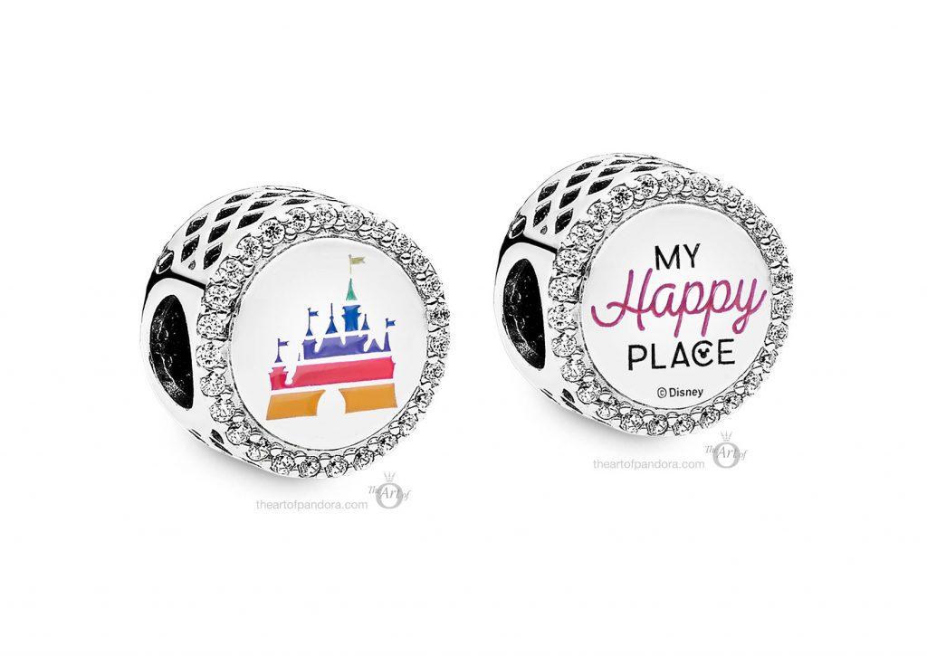 Fantasyland Castle My Happy Place Charm Pandora Disney Parks Summer Pre Autumn new Collection