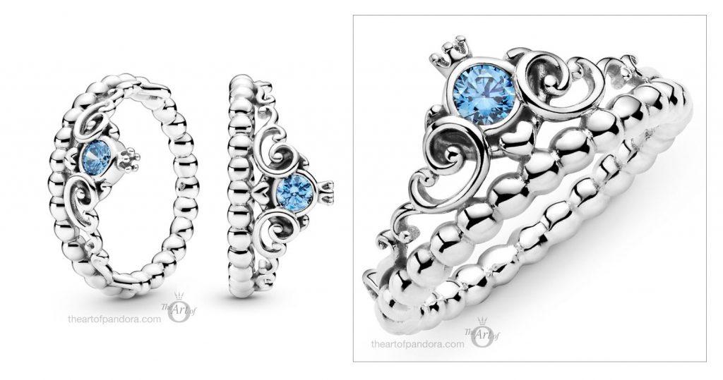 Disney x Pandora Cinderella Blue Tiara Ring  (199191C01)