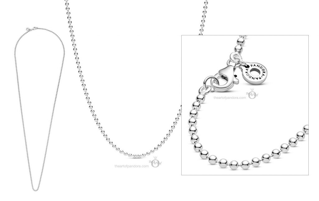 Pandora Polished Ball Chain Necklace  (399104C00) Autumn 2020