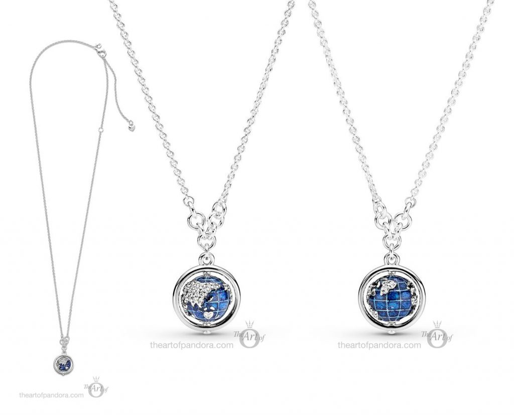 399235C01 Pandora Globe Necklace