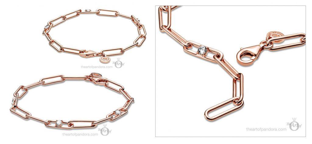 Pandora Rose Link Chain & Stones Bracelet (589177C01) pre winter Star Wars mysticism 2020 collection