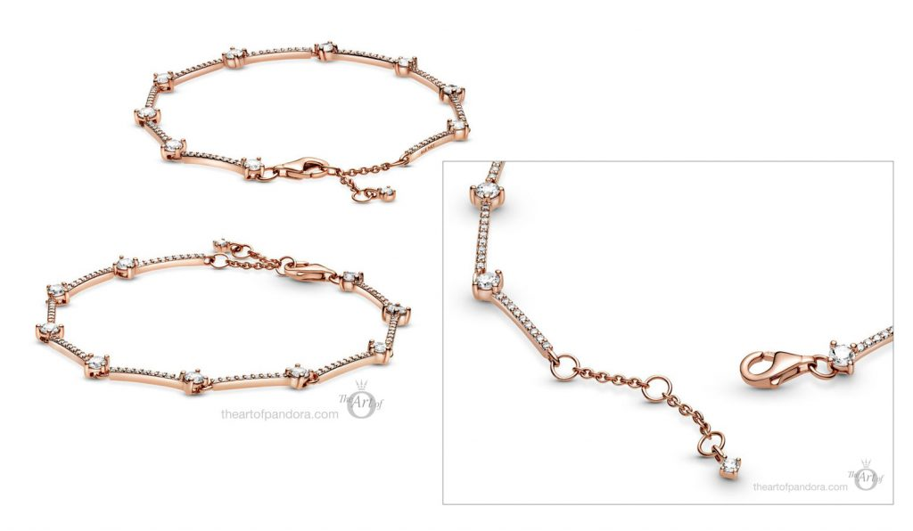 589217C01 Pandora Rose Pave Bars Bracelet winter 2020