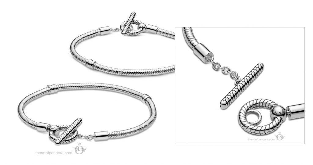 599082C00 Pandora Moments T-Bar Snake Chain Bracelet Autumn 2020