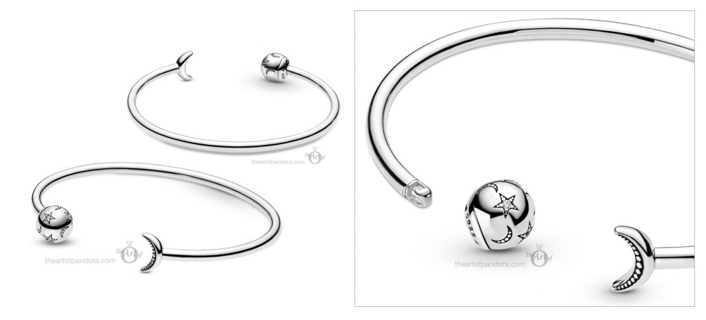 Pandora Moon & Stars Open Bangle (599120C01) pandora winter 2020