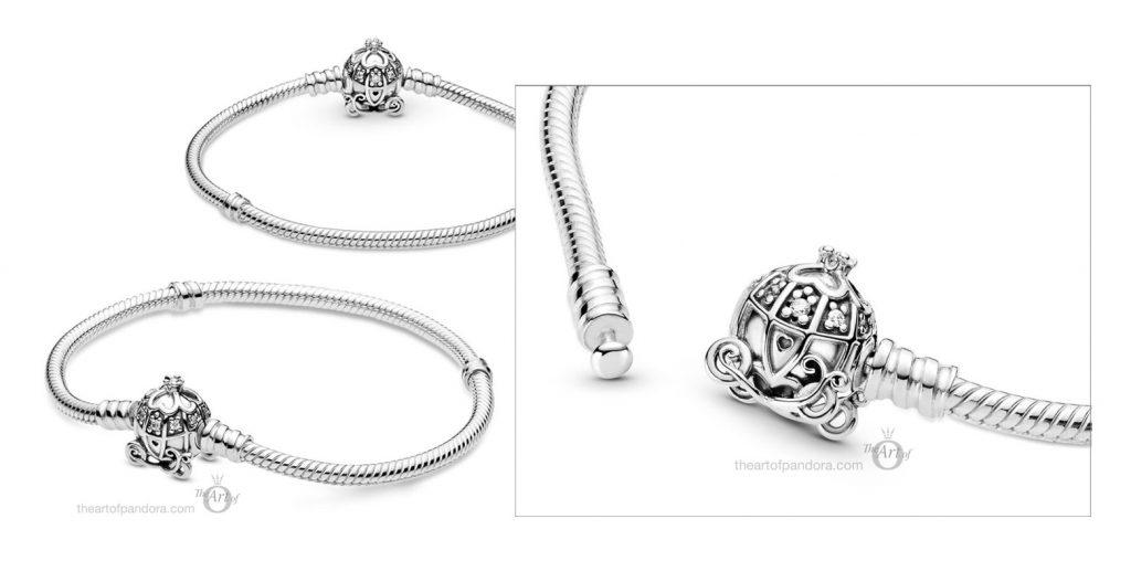 599190C01 Pandora Disney Cinderella Pumpkin Coach Bracelet