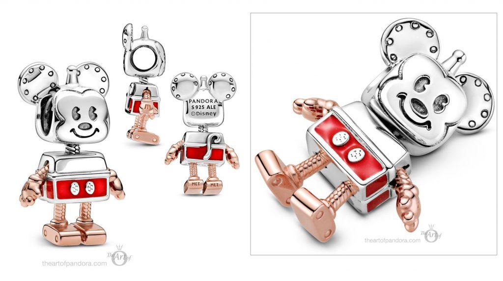 Limited Edition Disney x Pandora Mickey Mouse Robot Charm (789073C01) autumn 2020