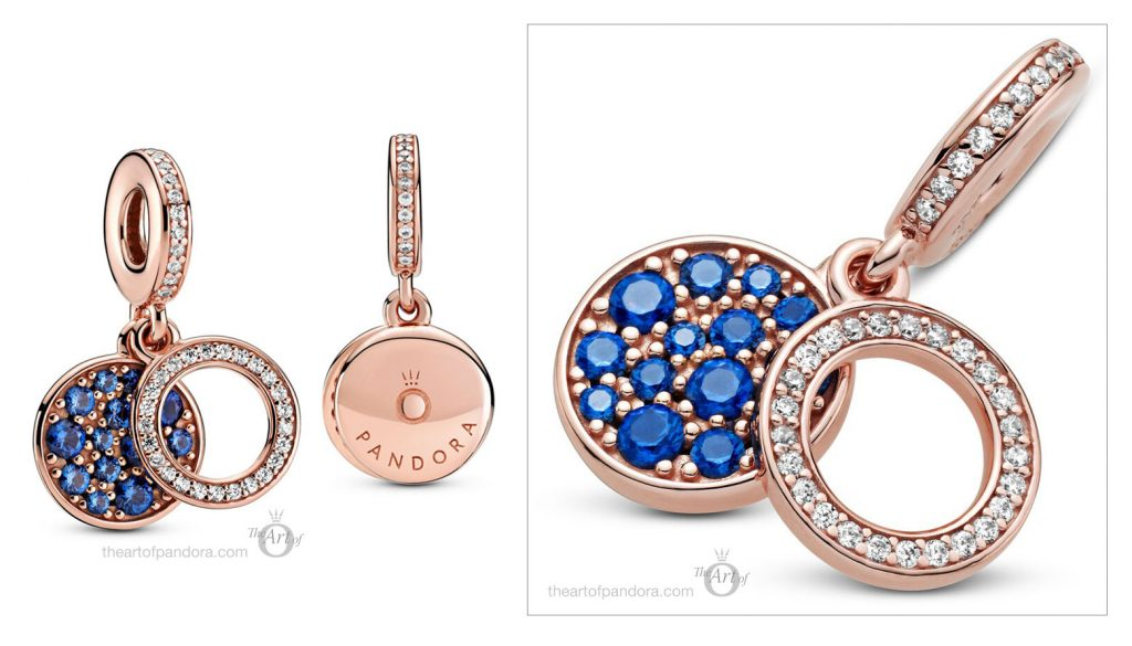 789186C01 Pandora Rose Sparkling Blue Disc Dangle Charm  pre winter Star Wars mysticism 2020 collection