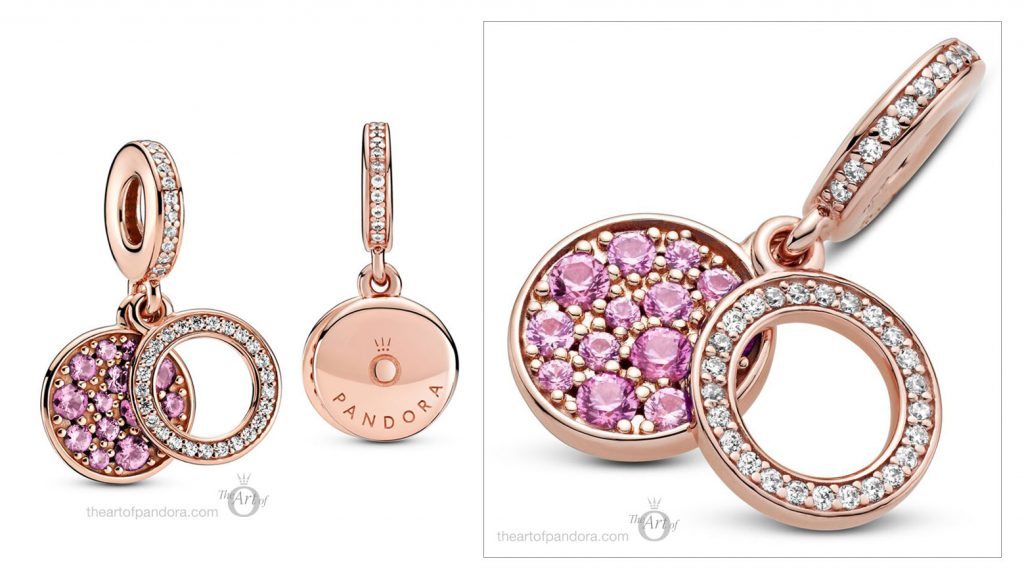 789186C02 Pandora Rose Sparkling Pink Disc Dangle Charm pre winter Star Wars mysticism 2020 collection