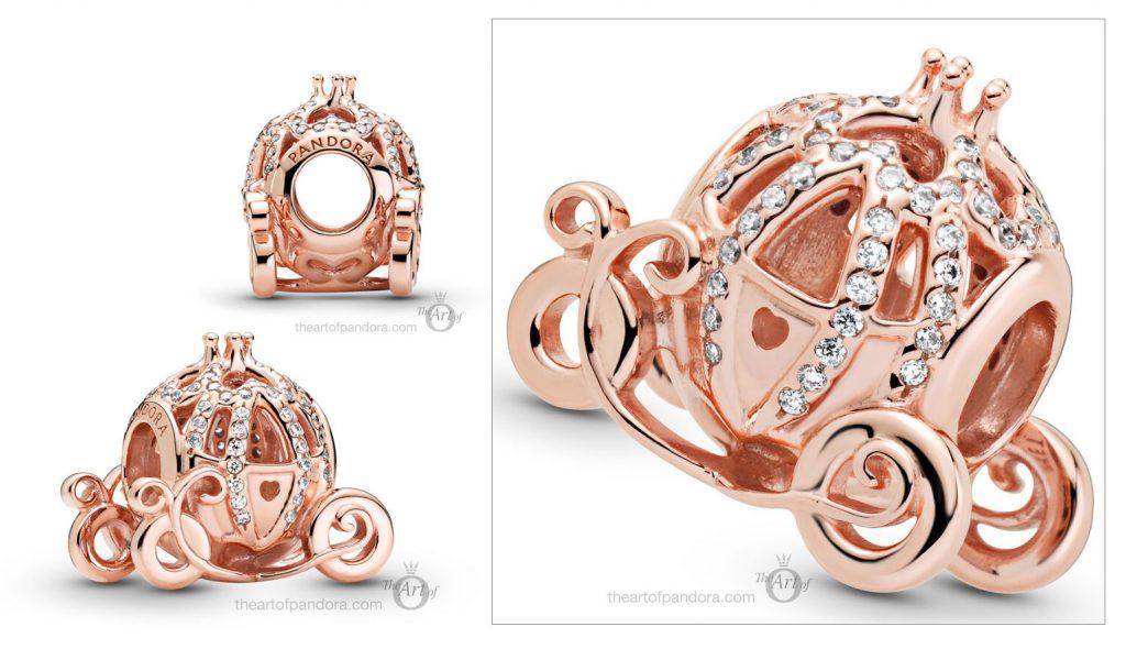 Disney x Pandora Pandora Rose Cinderella Pumpkin Coach Charm (789189C01)