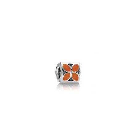 790437EN04 Pandora Orange Four Petal Flower Charm