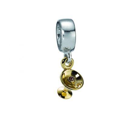 790527GR Dangle Cocktail Garnet Dangle Charm