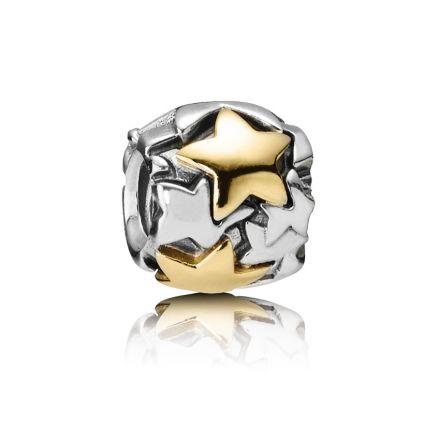 790563 Pandora XL Gold Stars Charm