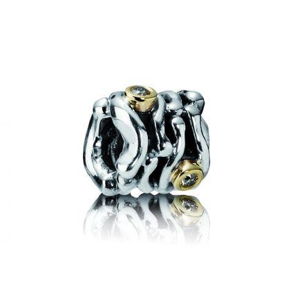 Pandora Gold Dancing Diamond Charm  (790569DN)