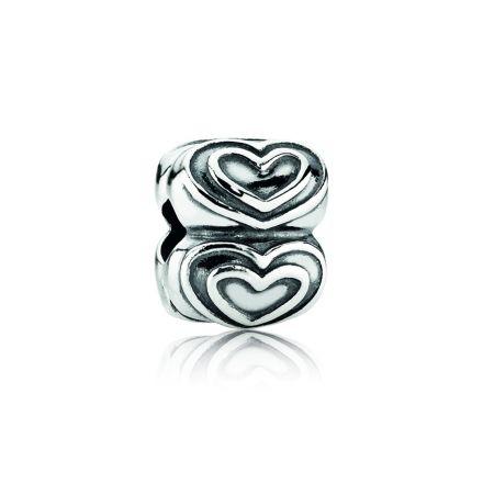 790959 Pandora Heart Silver Clip