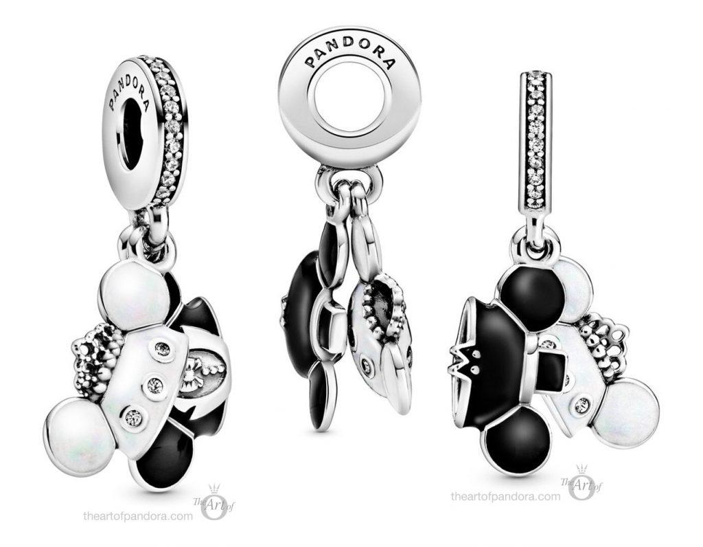 Pandora Disney Parks Mickey & Minnie Wedding Dangle Charm (798804C01)