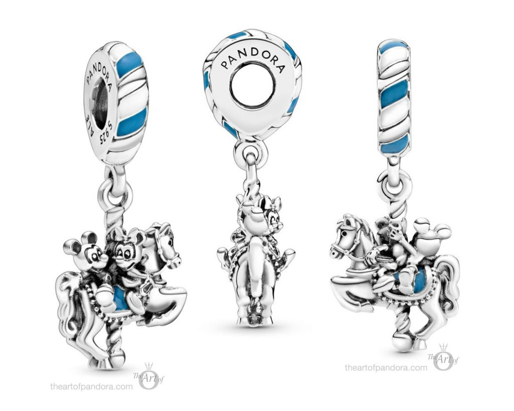 Pandora Disney Parks Mickey & Minnie Carousel Dangle Charm (798900C01)