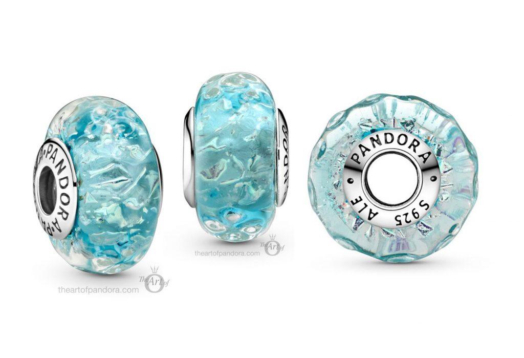 Pandora Wavy Blue Murano Glass Charm (799063C00) autumn 2020