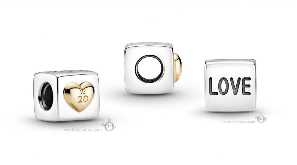799065C00 Pandora 20th Anniversary Love Dice Charm