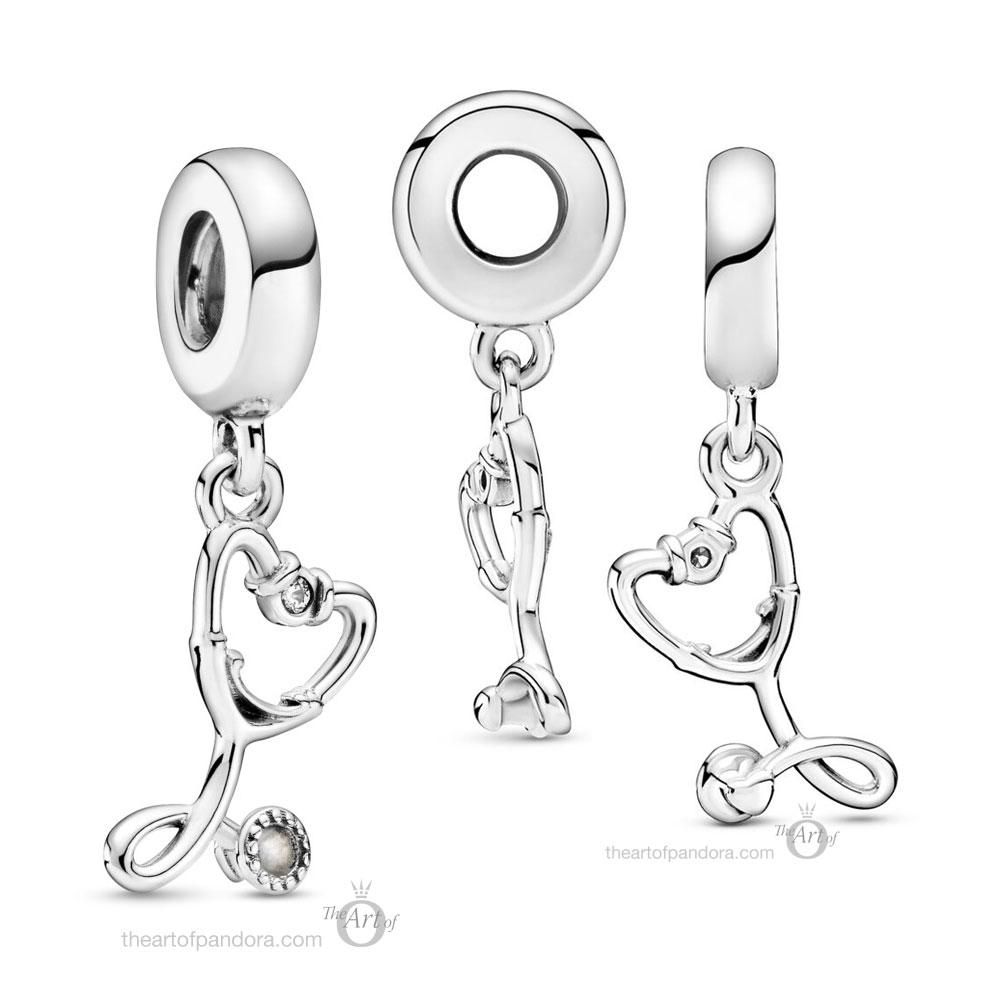 Pandora Stethoscope Heart Dangle Charm (799072C01) autumn 2020