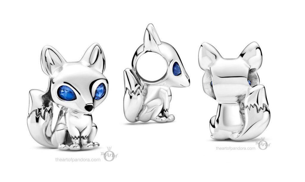 Pandora Blue Eyed Fox Charm (799096C01) autumn 2020
