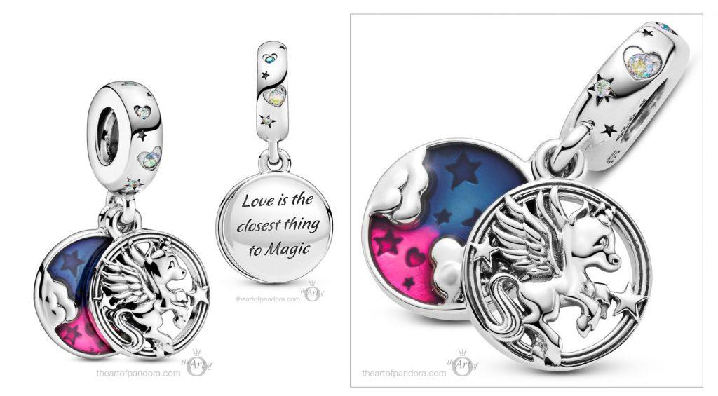 Pandora Pegasus Dangle Charm (799145C01) pre winter Star Wars mysticism 2020 collection Magical Unicorn