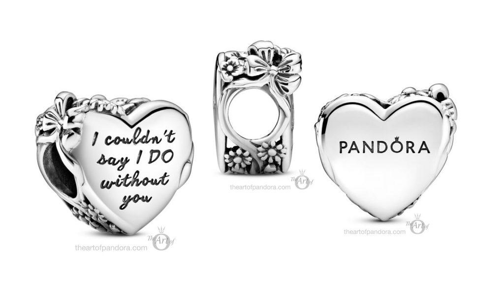 Pandora Flower & Bow Heart Charm (799146C00) Pandora Bridesmaid Heart Charm pre winter Star Wars mysticism 2020 collection