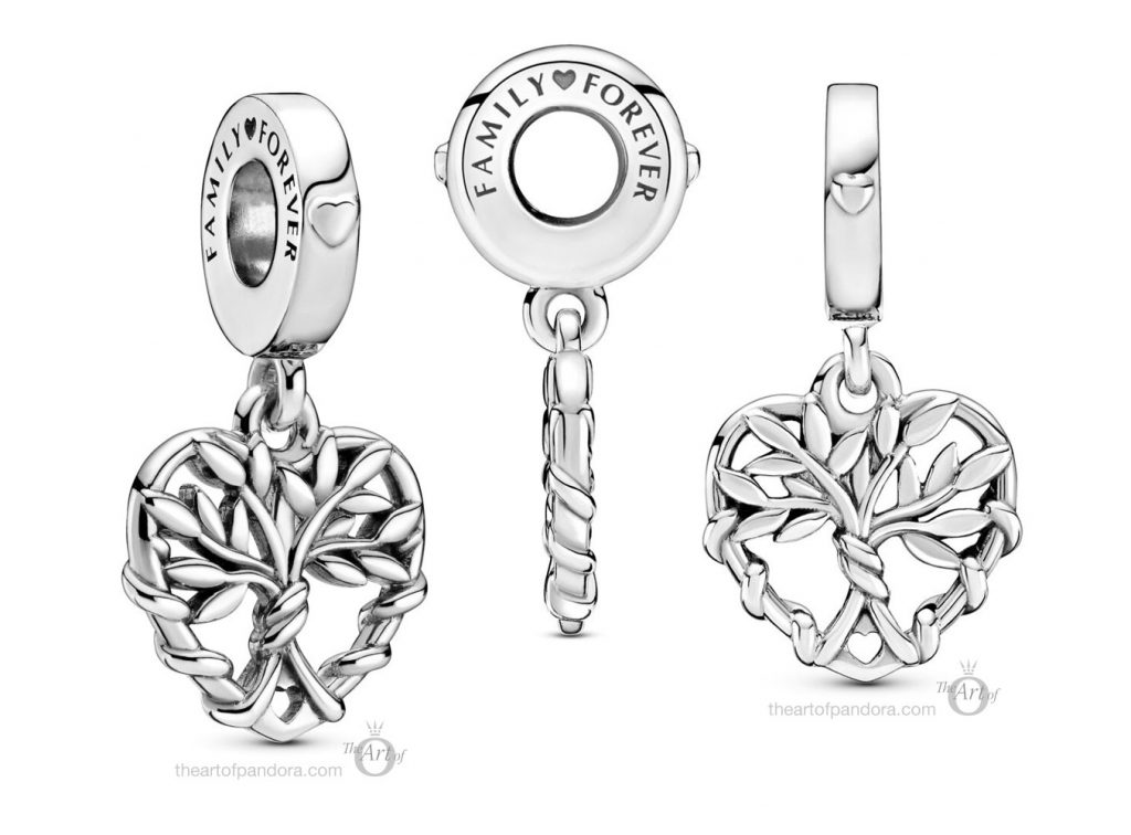 Pandora Heart Family Tree Dangle Charm (799149C00) pre winter Star Wars mysticism 2020 collection