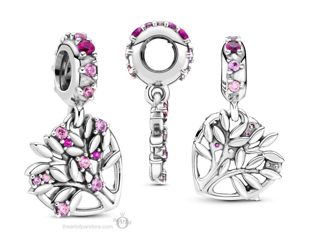 Pandora Pink Heart Family Tree Dangle Charm (799153C01) pre winter Star Wars mysticism 2020 collection