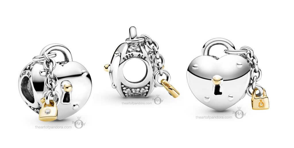 Pandora Heart & Lock Charm (799160C01) winter 2020